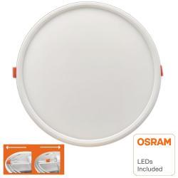 Placa Slim LED Circular Downlight 20W AJUSTABLE - OSRAM CHIP DURIS E 2835