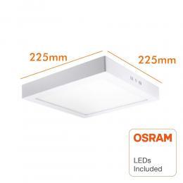 Plafón LED cuadrado superficie 20W - OSRAM CHIP DURIS E 2835 - Imagen 2