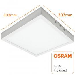 Plafón LED cuadrado superficie 30W - OSRAM CHIP DURIS E 2835 - Imagen 2