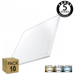 PACK 10 Panel LED 60x60 cm 40W Marco Blanco - CCT - PACKPRO 10 UND - Imagen 1
