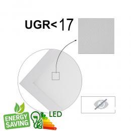 PACK 10 Panel LED 60x60 cm 40W UGR17 - Marco Blanco - CCT - PACKPRO 10 UND - Imagen 2