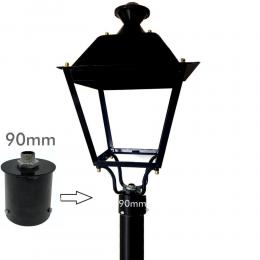 Soporte de acoplamiento para columna farola LED - 90mm - Imagen 2