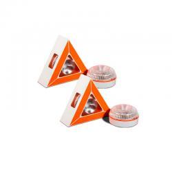 Pack 2 Luces LED de Emergencia para Vehículos V16 Base Magnético