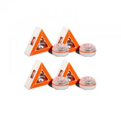 Pack 4 Luces LED de Emergencia para Vehículos V16 Base Magnético