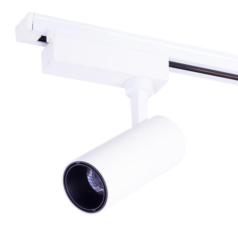 Foco Carril LED Monofásico Blanco 20W 2000Lm 30.000H Lumiastra - Imagen 1