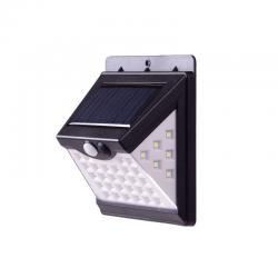 Aplique de Pared Solar IP65 270º 40xLED SMD Sensor Luz + Movimiento - Blanco Frío