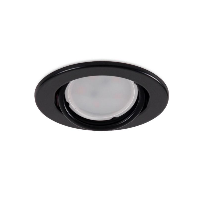 "Aro Foco Downlight Circular Basculante ""Vepa"" Acero 90mm - Negro - Imagen 1"
