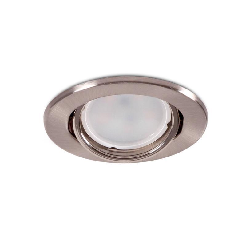 """Aro Foco Downlight Circular Basculante """"Vepa"""" Acero 90mm - Satinado - Imagen 1"""