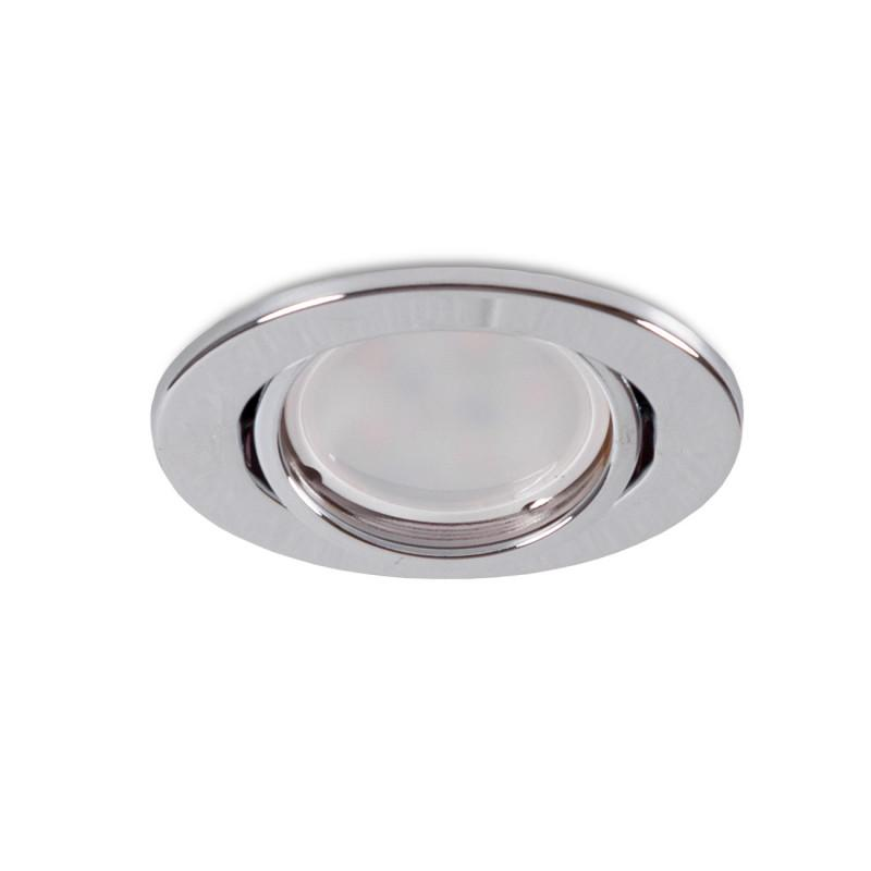 "Aro Foco Downlight Circular Basculante ""Vepa"" Acero 90mm - Cromado - Imagen 1"