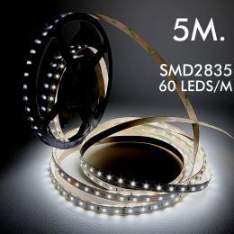 Tira LED 24V | 60xLED/m | 5m | SMD2835 | 780Lm | 5W/M | IP20 - Imagen 2