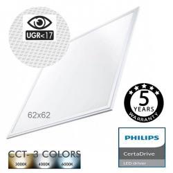Panel LED 62x62 44W Philips Certa Driver UGR17 - CCT - Imagen 1