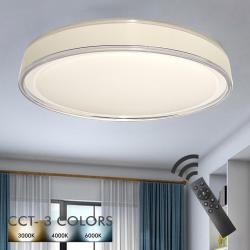 Plafón LED 36W TAMPERE - Dimable - CCT + Mando Control - Imagen 1
