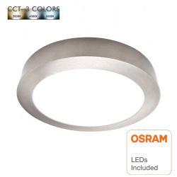 Plafón LED 15W Circular Acero Inox - CCT - OSRAM CHIP DURIS E 2835 - Imagen 1