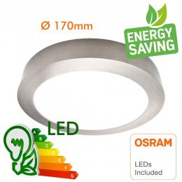 Plafón LED 15W Circular Acero Inox - CCT - OSRAM CHIP DURIS E 2835 - Imagen 2