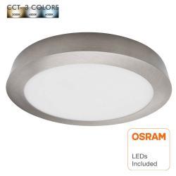 Plafón LED 20W Circular Acero Inox - CCT - OSRAM CHIP DURIS E 2835 - Imagen 1