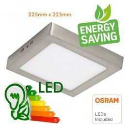 Plafón LED 20W Cuadrado Acero Inox - CCT - OSRAM CHIP DURIS E 2835 - Imagen 2