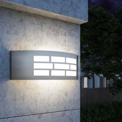 Aplique LED E27 GOTEMBURGO INOX Exterior - Imagen 1