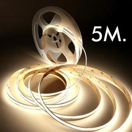 Tira LED COB 24V | 280 LED/m | 5m | FLIP CHIP | 1320Lm |12W/M | CRI90 | IP20 - Imagen 2