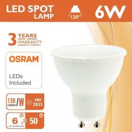 Dicroica LED 6W 120° GU10 - OSRAM CHIP DURIS E 2835 - Imagen 2