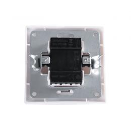 Interruptor Luminoso 10A 250V Empotrado Terminales Tornillo Blanco - Imagen 2