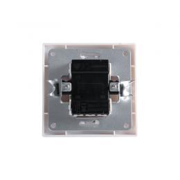 Interruptor Doble 10A 250V Empotrado Terminales Tornillo Blanco - Imagen 2