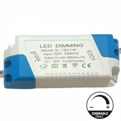 Driver DIMABLE para Luminarias LED de 8W a 18W - 300mA - TRIAC - Imagen 1