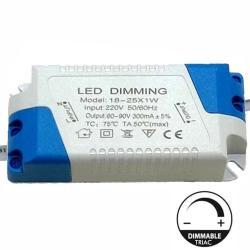 Driver DIMABLE para Luminarias LED de 18W a 25W - 300mA - TRIAC - Imagen 1