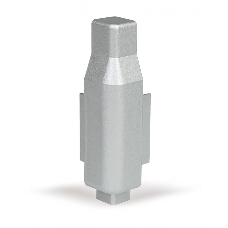 Conector esquinero externo (hacia fuera 90º) de PVC.