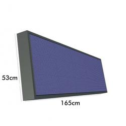 Rotulo Electronico LED Exterior RGB Full Color Pixel 10  1.65m*0.53m - Imagen 1