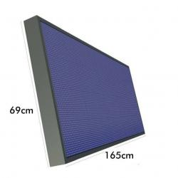 Rótulo electrónico LED Exterior Pixel 10 RGB Full Color  1.65m*0.64m