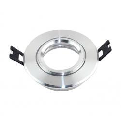 Aro plata circular orientable para dicroica