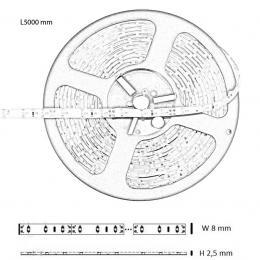 Tira flexible interior 4.8w*5m 240lm IP20 12V - Imagen 2