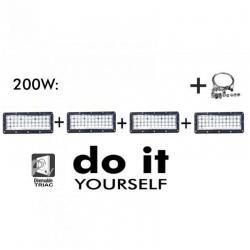Campana DIY 200W 60º 3000K  SMD 3030 -3D-