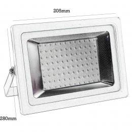 Foco Proyector Exterior Blanco 85W IP65 Elegance 3030-3D - - Imagen 2
