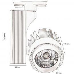 Foco LED 30W ROCIO para Carril Monofásico 35º - Imagen 2