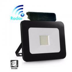 Foco Proyector Exterior 30W LED Luxury RADAR Negro - Imagen 1