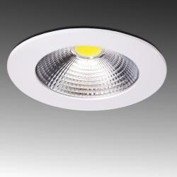 Downlight Led Circular COB Difusor Transparente 5W 400Lm Ø107mm