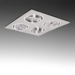 Foco Downlight Led Cuadrado 12W 1200Lm 30.000H