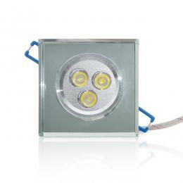 Foco Downlight Led Cuadrado 3W 300Lm 30.000H - Imagen 2