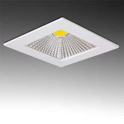 Downlight Led Cuadrado COB Difusor Transparente 5W 400Lm 30.000H