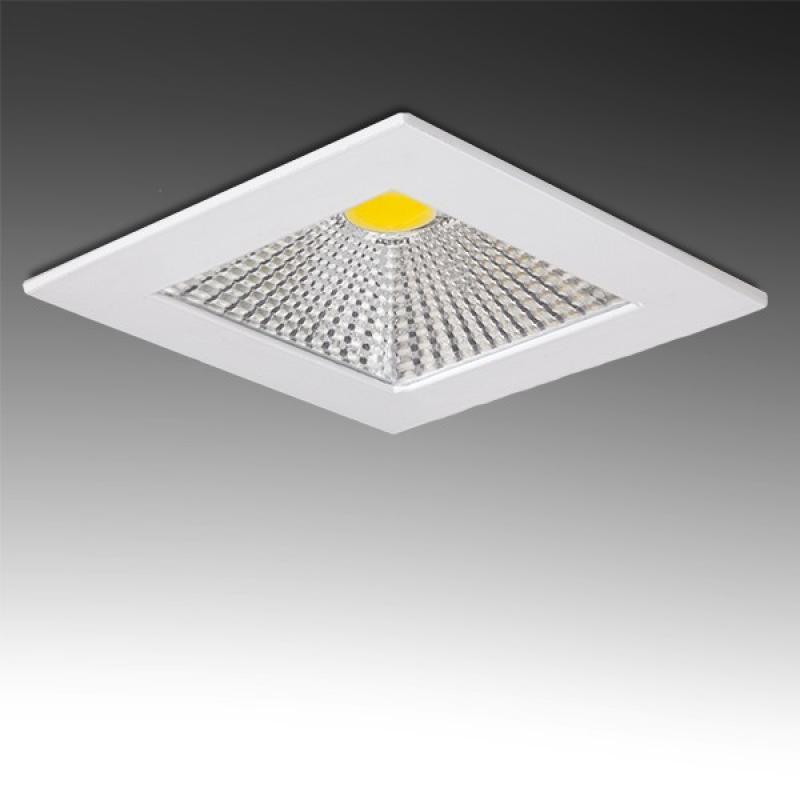 Downlight Led Cuadrado COB Difusor Transparente 5W 400Lm 30.000H - Imagen 1