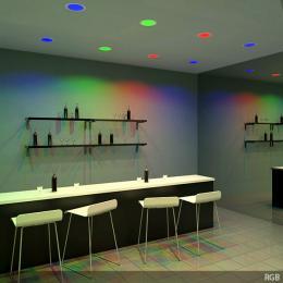 Placa LEDs Circular RGB 240mm 10W 24VDC Driver/Controlador Centralizado - Imagen 2