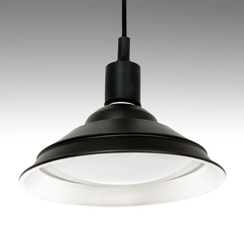 Lámpara Suspendida Led 20W 2000Lm IP65 Cuerpo Negro Blanco Cálido - Imagen 1