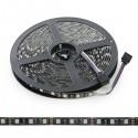 Tira de 300 LEDs RGB SMD5050 12VDC IP65 PCB Negro