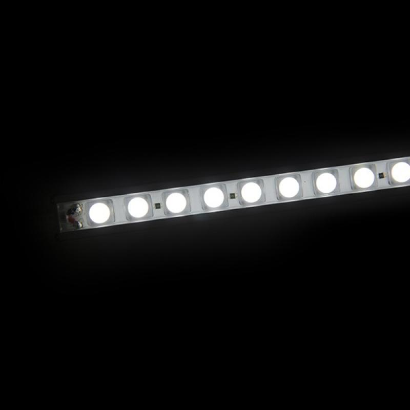 Tira Led Rígida con Lentes 45º 72 LEDs SMD5050 17,2W 24VDC 1440Lm IP65 1200mm - Imagen 1