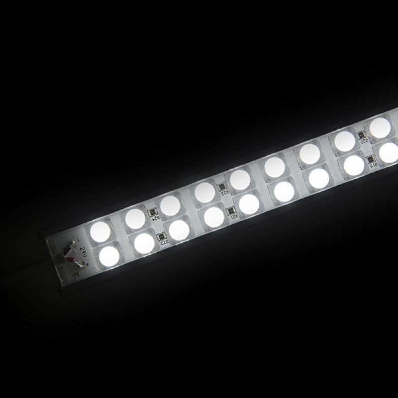 Tira Led Doble Rígida con Lentes 45º 72 LEDs SMD5050 17,2W 24VDC 1440Lm IP65 600mm - Imagen 1