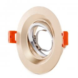 Aro Downlight Circular Aluminio Color Dorado 100mm - Imagen 1