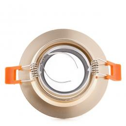 Aro Downlight Circular Aluminio Color Dorado 100mm - Imagen 2
