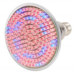 Lámpara Bombilla LED Grow PAR38 E27 168 LEDs  9W Rojo/Azul 50.000H Tipo A - Imagen 1