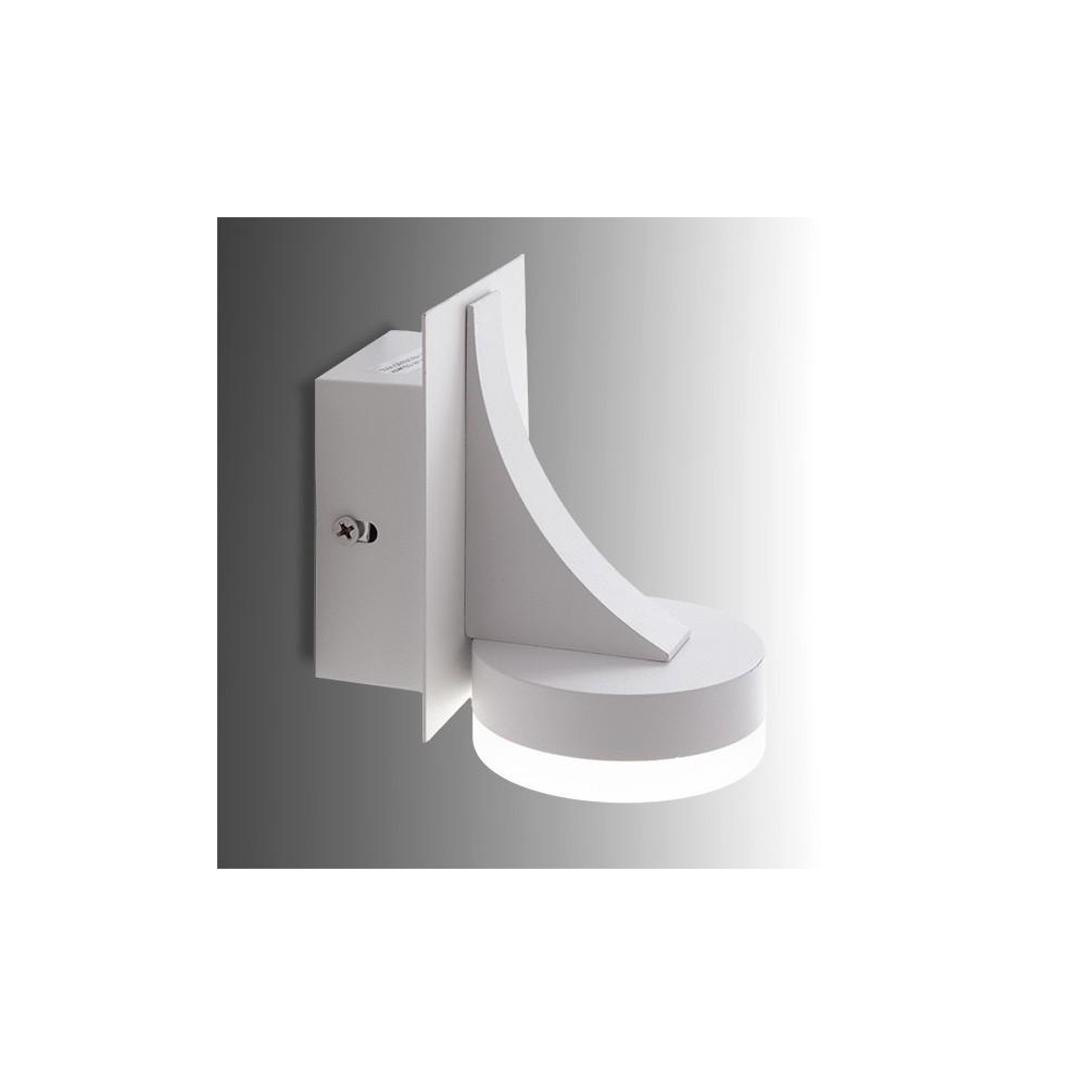 Aplique de pared de leds 5w 500lm cuerpo blanco - Aplique pared led ...